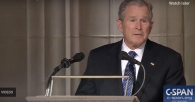 George W. Bush Eulogizes His Father