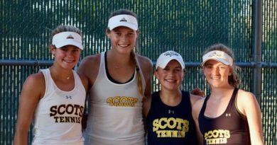 Scots Send 13 to State Tennis Tourney