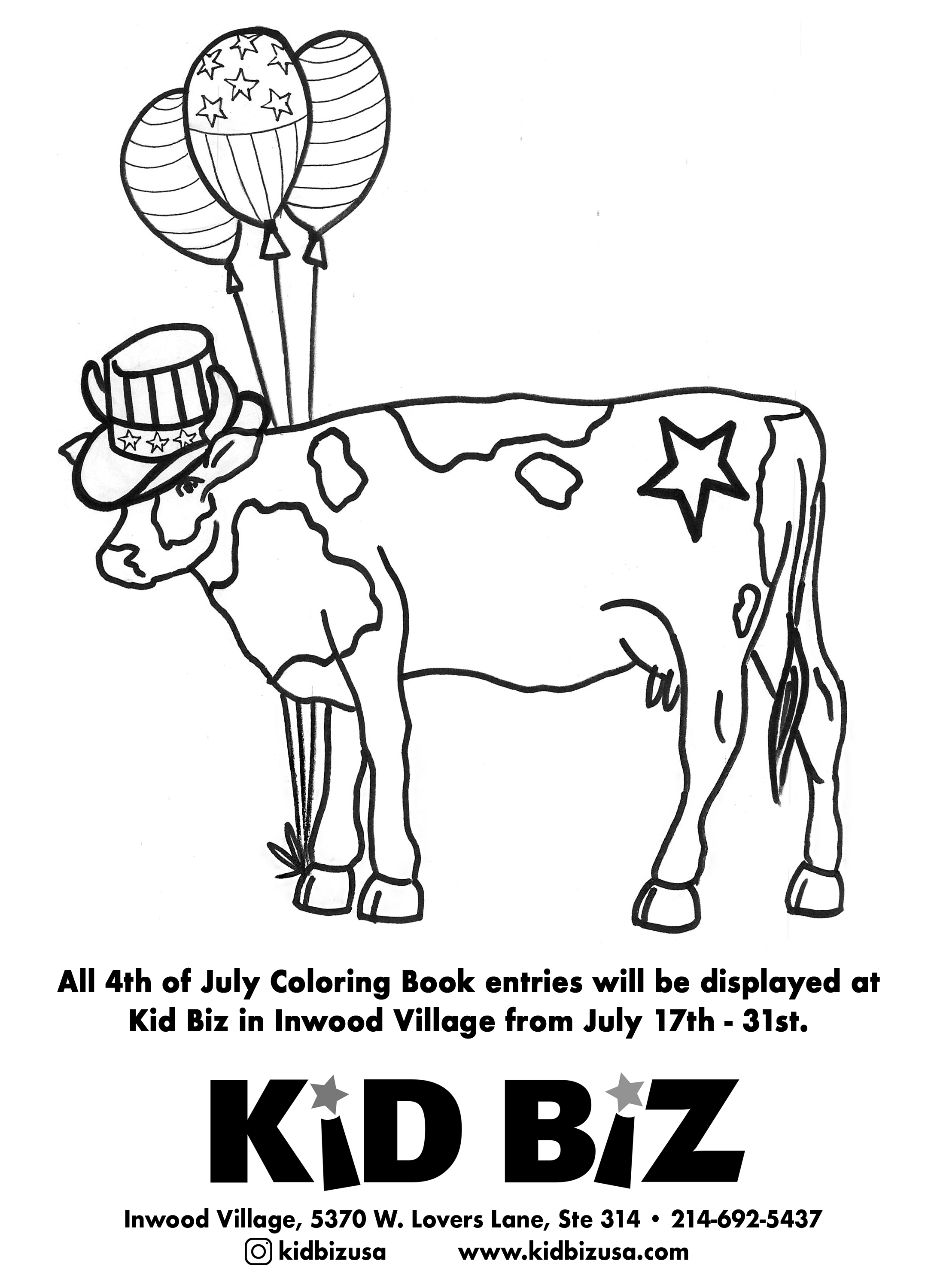 4th of July Coloring Book Contest 2019 Park Cities People