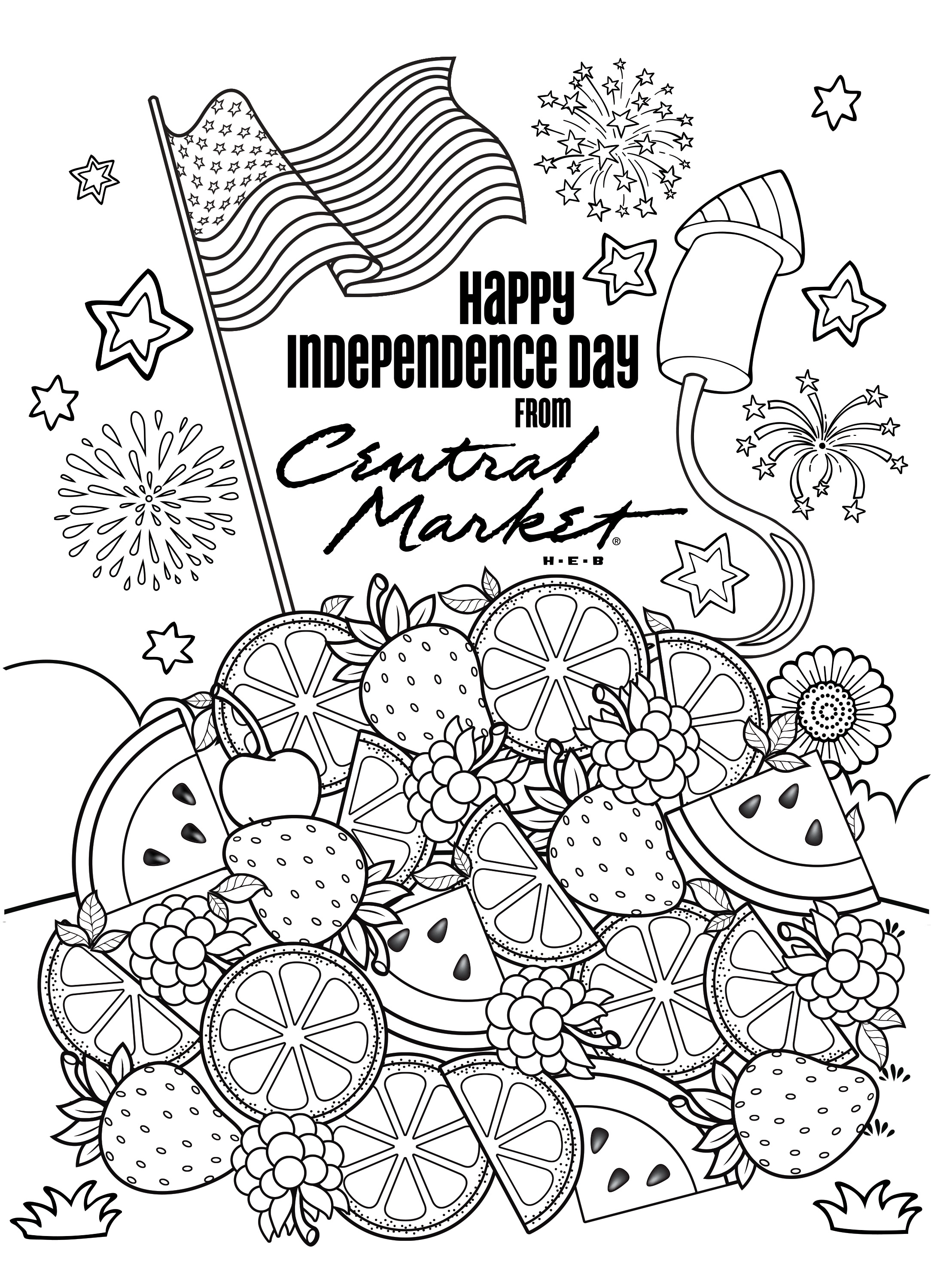 4th of July Coloring Book Contest