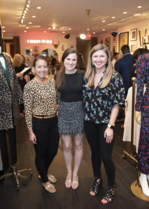 Kristin Wan and Brittany Evans of Veronica Beard with Hendrika Diehl of Highland Park Village