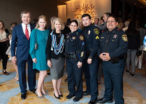 Dr. Gerald Turner, Jessica Waugh, Gail Turner, Bertha Rivera Roop, Chris Ruiz, and Miguel Hernandez