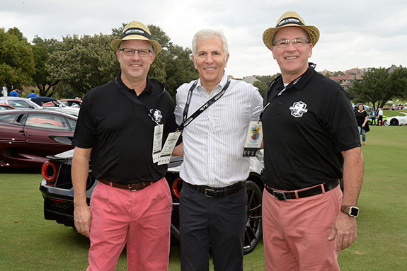 Judges:  Park Place Dealerships Chairman Ken Schnitzer (center) with Concours Judging Co-Chairs Brian Ratcliff (L) and Keith Perry