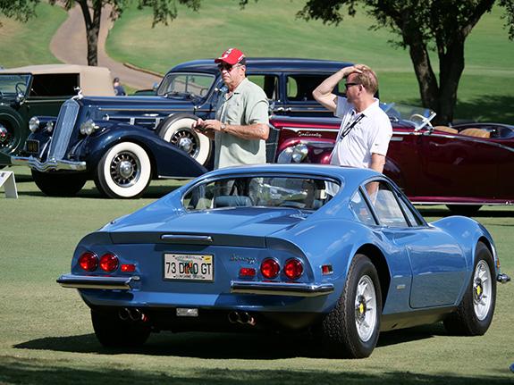 1st in Class Italian Classic: Randy Johnson, 1973 Ferrari Dino 246 GT