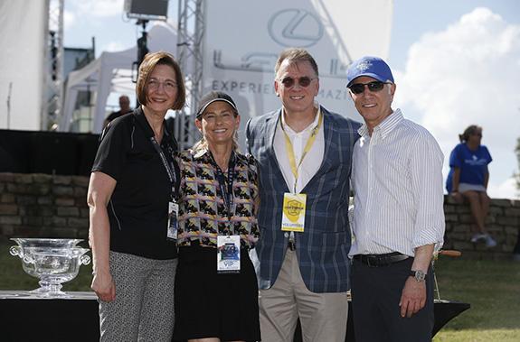 2020 LexusUXwinner: Left to right:Cindy Schamp, President of Baylor Scott & White Medical Center Irving; Janet Jensen, raffle winner of the 2020 Lexus UX; John Drake, President, Baylor Scott & White Irving Foundation;and Ken Schnitzer, founder and chairman of Park Place Dealerships.