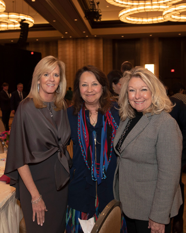 Amy Crafton, Texas First Lady Cecilia Abbott (ProtectHER Award Recipient), and Hon. Jeanne Phillips