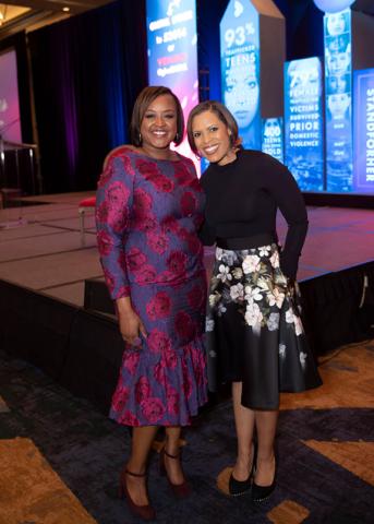 Bianca Jackson and Laura Harris