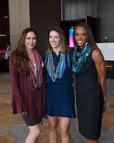 Abi Ferrin, Shelly Slater, and Christa Sanford