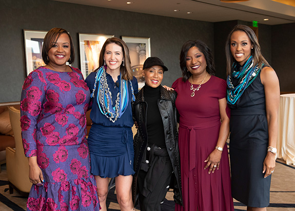 Bianca Jackson, Shelly Slater, Jada Pinkett Smith, Kim Robinson, and Christa Sanford
