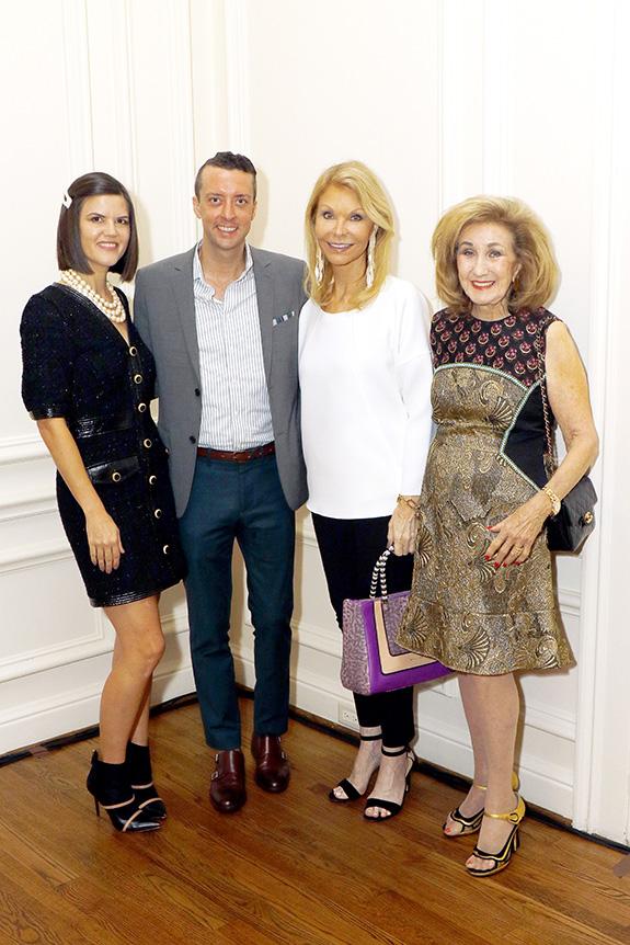 Nerissa Von Helpenstill, Dustin Holcomb, TOOTSIES, Fashion Show sponsor; Joyce Fox, and Doris Jacobs