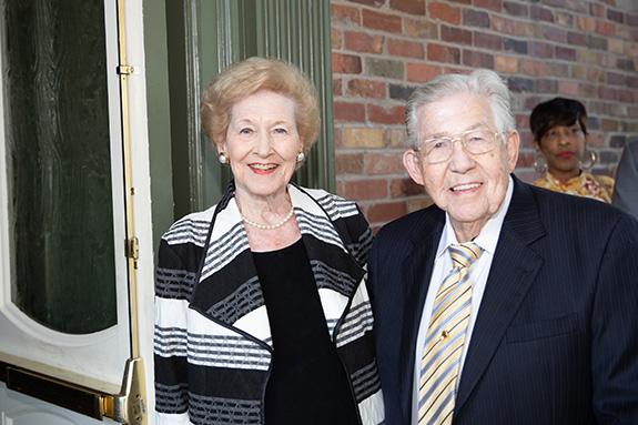 Patricia Cowlishaw, Sue Goodnight Service Award honoree; and Willis Cowlishaw