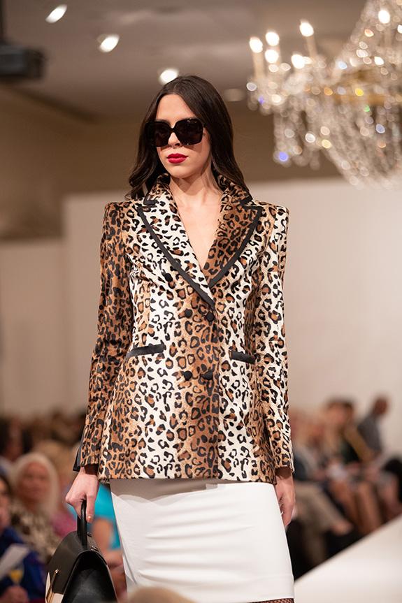 VALENTINA SHAH Leopard Blazer, MILLY Ivory Skirt