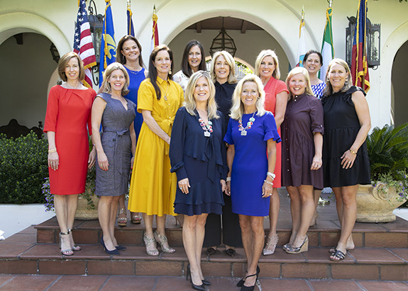 Front row (left to right) – Co-Chairs Mary Deaver and Fran Matise.  Second row (according to first stair, left to right)  Suzanne Brown, Michaela Dyer, Alisa Sell, Ann Fielder, Kasey Bevans, Caroline Williams & Katherine Lewis.  Back row  - Key Herring, Meg Salter & Melissa Rieman