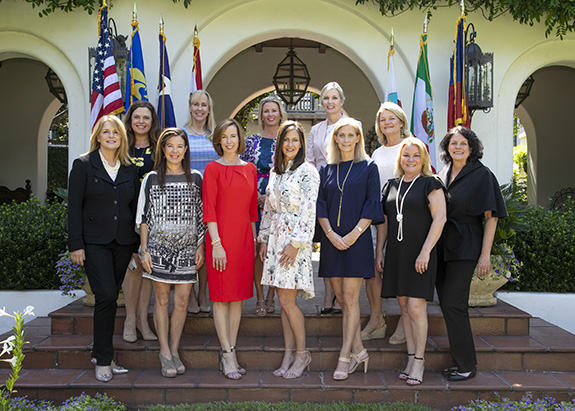 Front row (left to right) – Jerri Stone, Crozier Kimzey, Suzanne Brown, Meg Salter, Julie Wander, Diana Stewart & Jane Jurgensmeyer.  Top Row (left to right) – Mindy Van Eaton, Victoria Steindorf, Vanessa Sloan, Carla Lindley & Karen Meneghetti