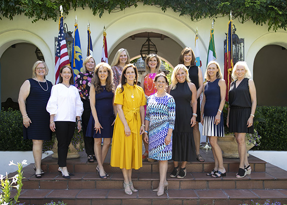 Front Row / Bottom step (left to right): Gala Co-Chairs Alisa Sell & Melissa Rieman, Second row (left to right) Kathleen Parsons, Jackie Tilden, Maria Fewin, Adina Smith, Anne Besser & Lauren Arthur. Back row (left to right) Kristie Serio, Frankie Mercurio, Leigh Leopard & Rebecca Beasley