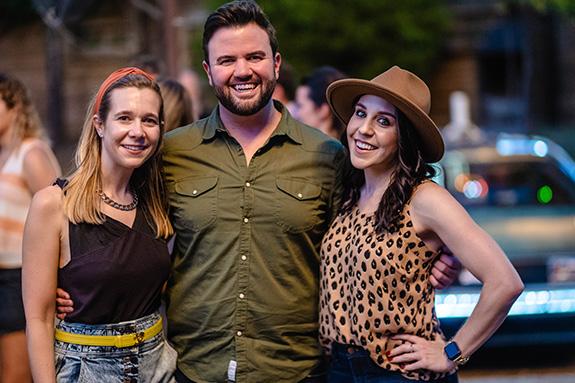 Megan Sterquell, Kyle Laney, and Elise Nichols