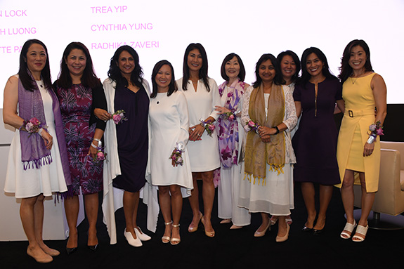 Founding members from left to right: Cynthia Yung, Charmaine Tang, Gowri Sharma, Thear Suzuki, Caren Lock, Lynette Payne, Sejal Desai, Mylinh Luong, Kim Cummings, and Arang Cistulli