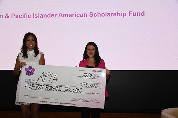 Asian and Pacific Islander American Scholarship Fund: Judy Wong, APIASF, and Katrina Sun Breese, Orchid Giving Circle