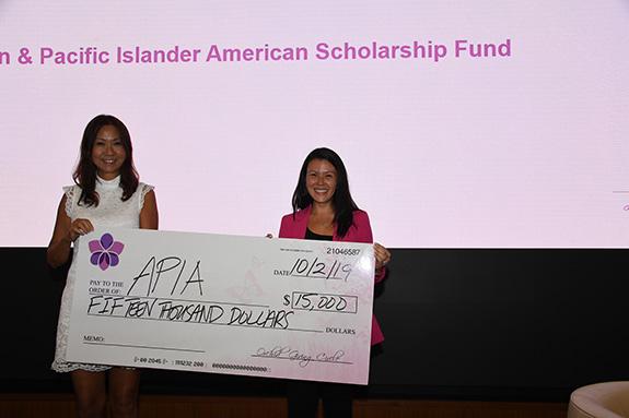 Asian and Pacific Islander American Scholarship Fund: Judy Wong, APIASF, and Katrina Sun Breese, Orchid Giving Circle