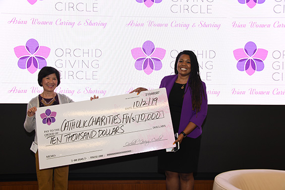 Catholic Charities Diocese of Fort Worth: Vicky Terhani, Orchid Giving Circle and Shalaina Abioye, Catholic Charities Diocese of Fort Worth
