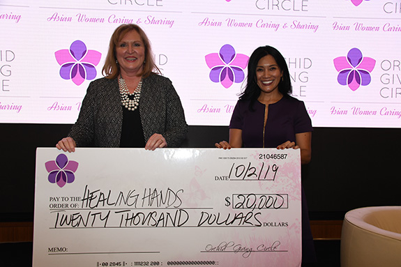 Healing Hands Ministries, Inc.: Janna Gardner, HHM and Kim Cummings, Orchid Giving Circle