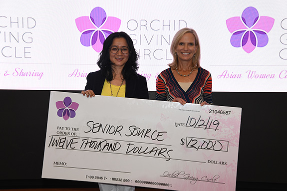 Senior Source: Maggie Ruben, Orchid Giving Circle and Stacey Malcomson, Senior Source