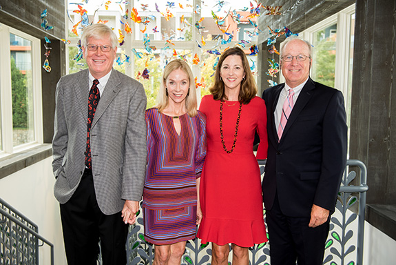 Doug Smellage (RMHD Chair Emeritus), Ann Smellage, Annell Williams, and Kelly Williams (RMHD Building Committee Chair)