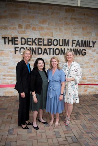 Heather Gandy (AbbVie), Gail Hartstein (The Elsie and Marvin Dekelboum Family Foundation), Jill Cumnock (CEO), and Natalie Dossett (RMHD Capital Campaign Chair)