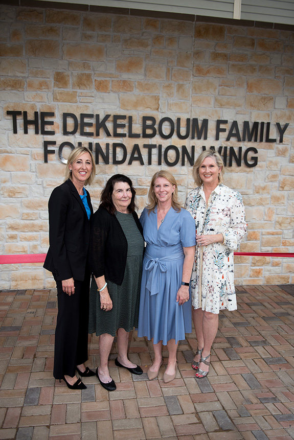 Heather Gandy (AbbVie), Gail Hartstein (The Elsie and Marvin Dekelboum Family Foundation), Jill Cumnock (CEO), and Natalie Dossett (RMHD Capital Campaign Chair)