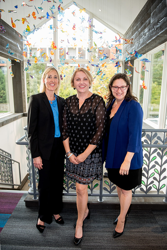Heather Gandy (AbbVie), Kelly Dolan (Ronald McDonald House Charities), and Jessica Zar