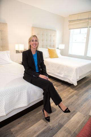 Heather Gandy (AbbVie) in one of the new family suites