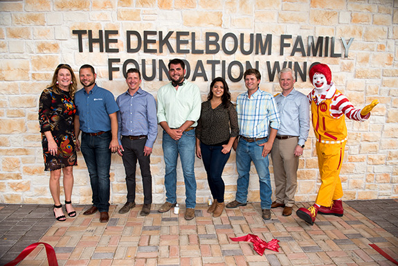 Hill & Wilkinson team - Cynthia O'Brien, Chad Anderson, David Regelean, Thomas Pipes, Stephanie Hernandez, Joey Viviano, Ty Walton, and Ronald McDonald