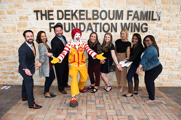 RMHD Young Friends – David Lisch, Katherine Bahcall, Dennis Moore, Ronald McDonald, Kathlyn McGuill, Caroline Overman, Madelyn Irwin, Chanel Patel, and Zahra Ali