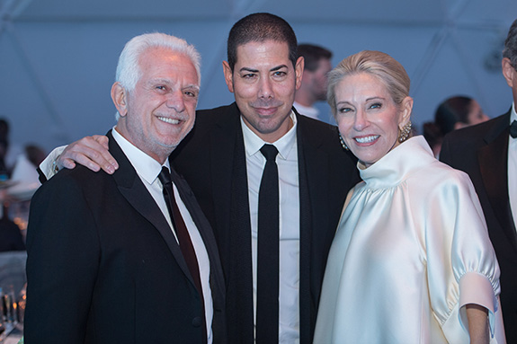 Maurice Marciano, Casey Kaplan, and Cindy Rachofsky