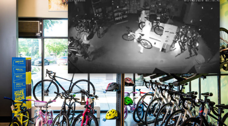 Bad Guys Burgle Bikes From Bluffview Business