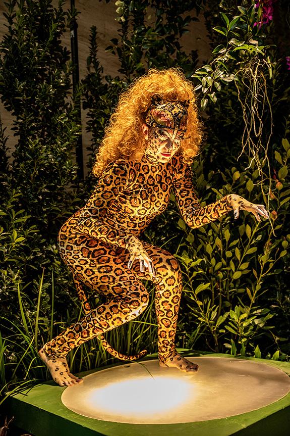"""""""Jaguar"""" at hotel entrance"""