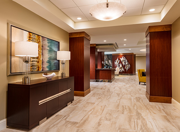 1st floor lobby side view