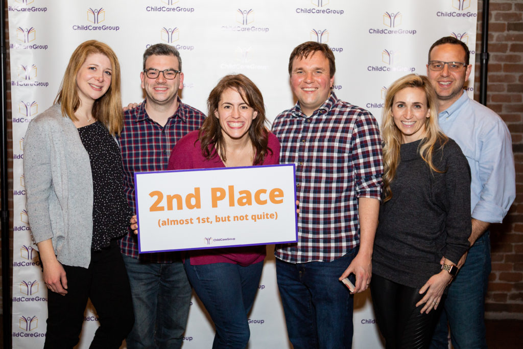 2nd place, United Way team: Kate and Alex Knight, Emily and Nick Barker, Jessica and Bryan Farrington
