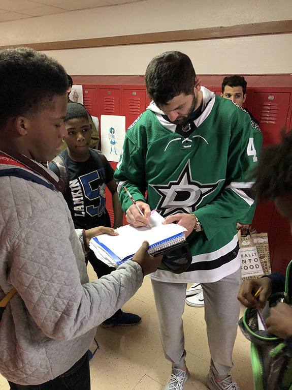 Dallas Stars Ben Franklin for Cary Students