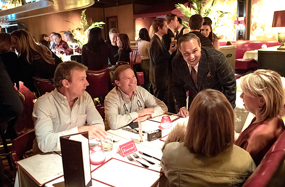 Drake's General Manager Glenn Govias greets guests