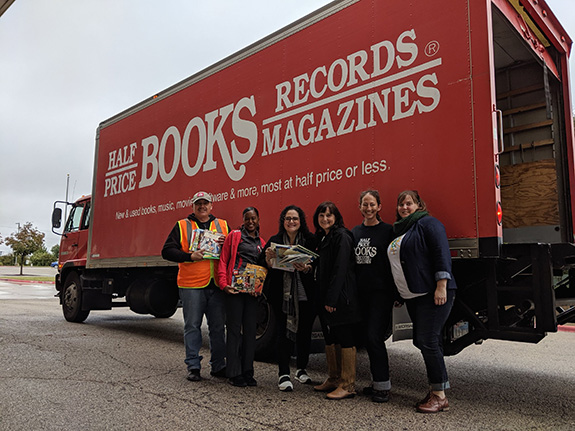 Half Price Books Donation at Loos Field House
