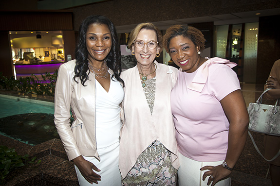 Lisa Montgomery (The Village Giving Circle co-founding officer), Roslyn Dawson Thompson (Texas Women's Foundation president and CEO), Shonn Brown (Texas Women's Foundation board chair and The Village Giving Circle co-founding officer)