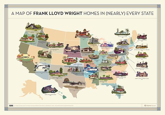 Frank Lloyd Write Map