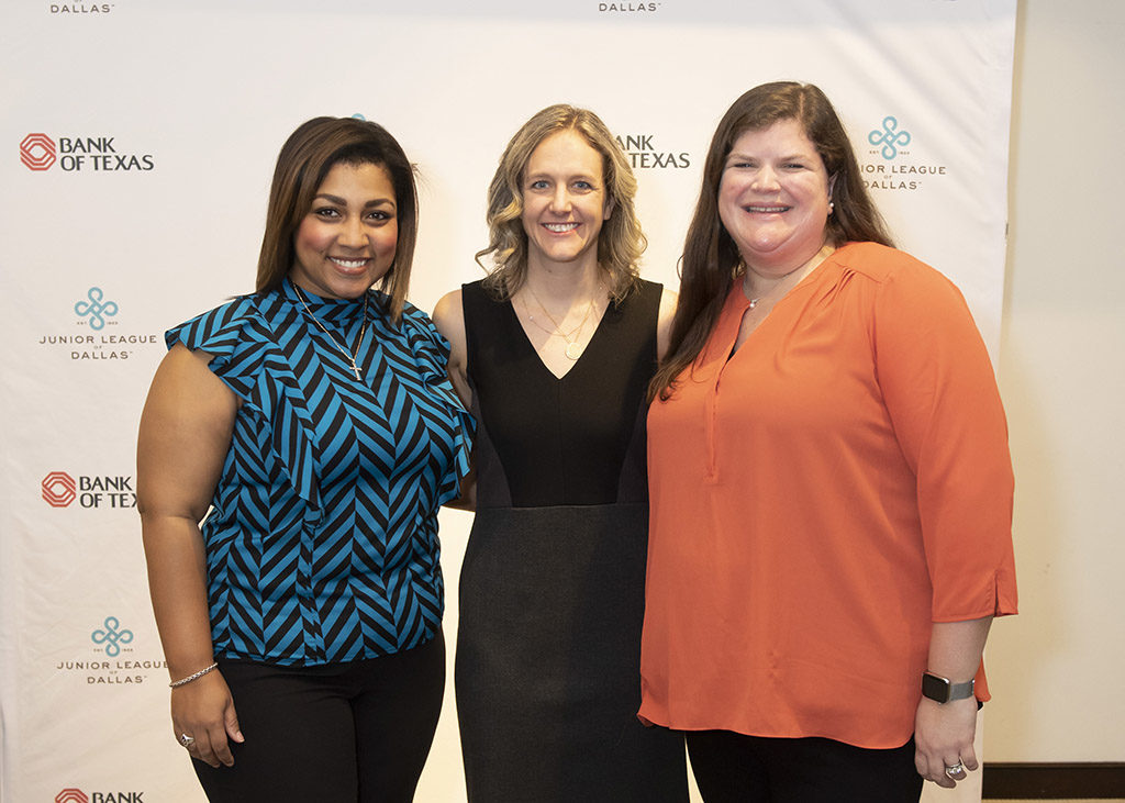 JLD Community Vice President Christina Eubanks, JLD President Brooke Bailey, and JLD Research and Development Chair Wynne McNabb Cunningham