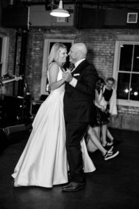 Wedding photos capture a slow dance and a funny family photo. (By Jessica Ross).