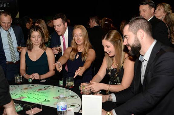 Brandon Conte, Lisa Santry, Shayne Turpin, Ryan Turner, Sarah Cafazza, and Dallas Stars player Roman Polak