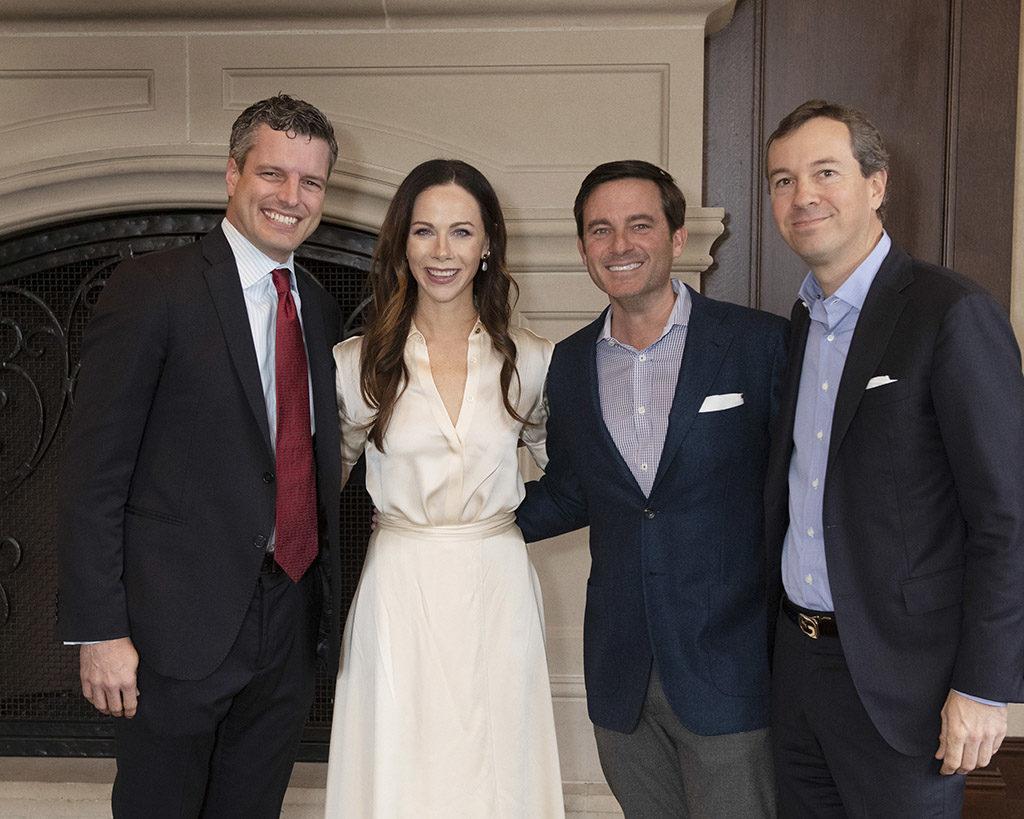 Scott Alexander, Love Luncheon Featured Speaker Barbara Pierce Bush, Chad Barrett, and Patrick Malone