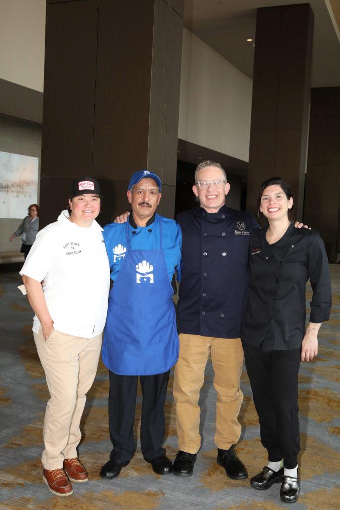 Chefs Caroline Perini, Javier Reyes, Brian Luscher, and Suki Otsuki