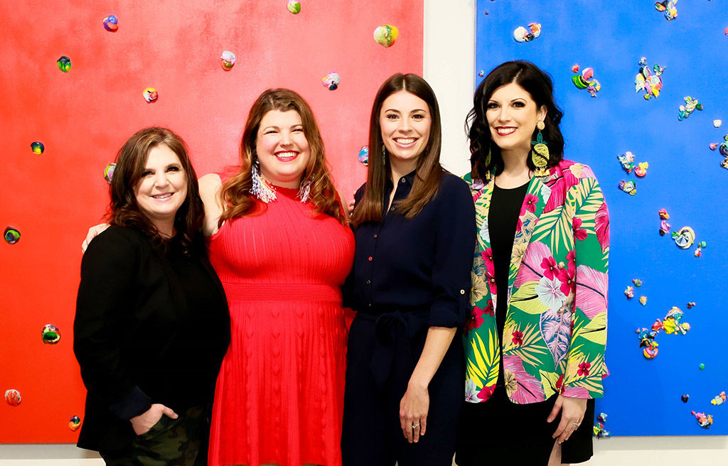Christi Meril, Anna Curnes, Melissa Ellis, and Annie Griffeth