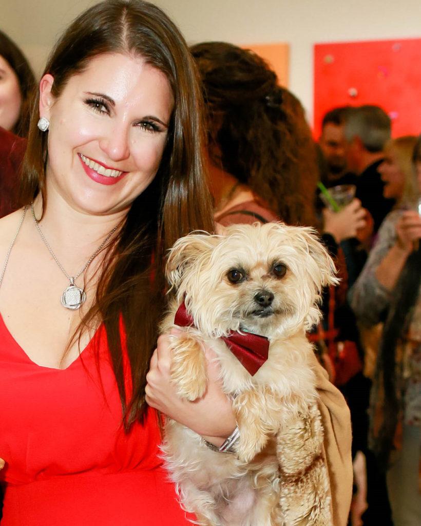 Courtney Underwood and dog, Brooks